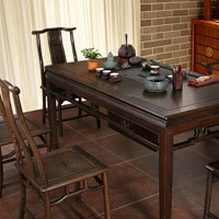 中国风明清古典型鸡翅木茶桌椅(样图)