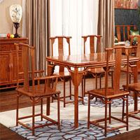 中国风明清古典型花梨木餐桌椅(样图)