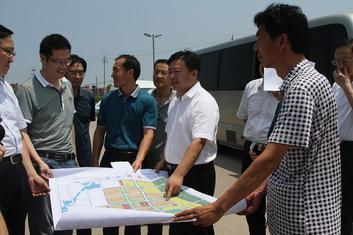 驻马店市人民政府陈星市长就我校新校区选址情况召开现场会