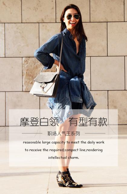 圣大保罗Polo女包单肩休闲包商务百搭手提包欧美时尚帆布包防水包