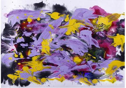 """花开的声音""""钱铃戈抽象绘画的音乐性表达"""
