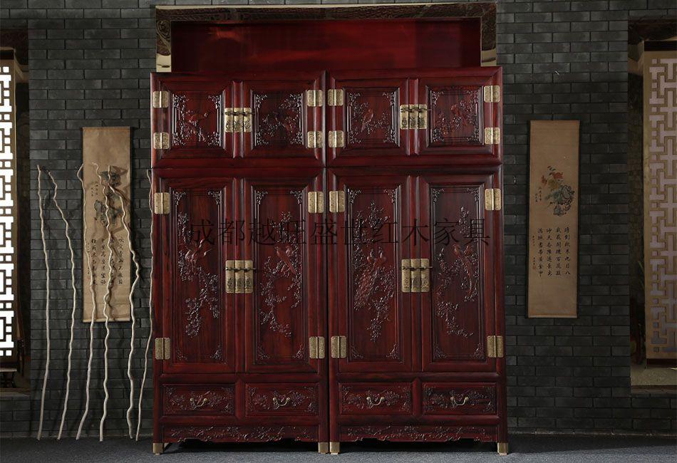 酸枝木孔雀衣柜