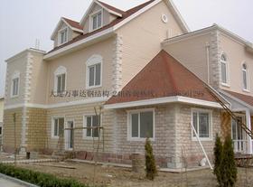 钢结构别墅施工,轻钢别墅,轻钢房屋设计
