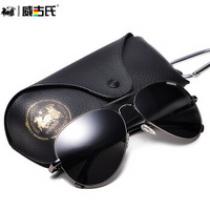 古森(COOLSIR)太阳镜男款偏光驾驶墨镜司机男女士偏光太阳眼镜 黑框黑灰