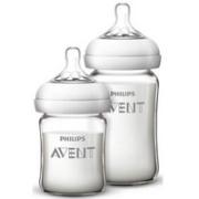 布朗博士(DrBrown's)初生婴儿防胀气宽口玻璃奶瓶套装120ml+240ml(晶彩版)