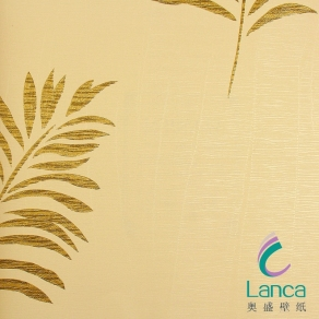 PVC Wallpaper With Leaf