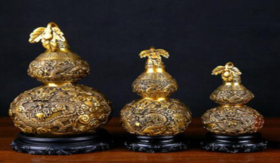 品牌: 铜欣祥  外观造型: 植物  颜色分类: M 新吉祥如意葫芦(黄),高15cm M 新吉祥如意葫芦(咖),高15cm