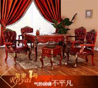 新洛可可雅典娜进口实木外框麻将桌