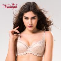 Triumph/黛安芬经典款 无衬垫性感蕾丝边透气文胸19-575