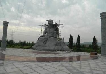 施工现场_广场名人雕塑