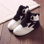 新款高帮厚底增高运动鞋