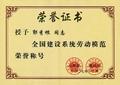 勞動模范榮譽證書