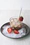 植物用法。草莓+薄荷+波旁酒+碎冰块