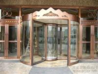 无锡巨人餐饮--三翼圆形展台自动旋转门