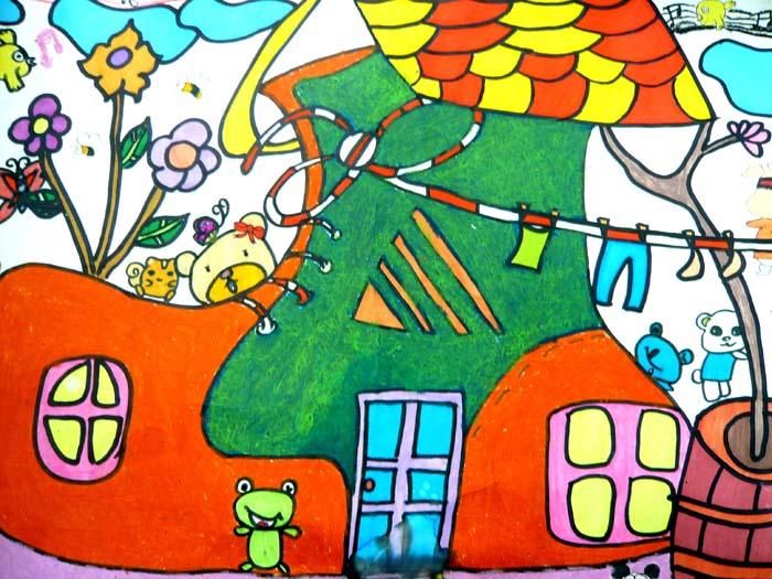 儿童科幻画——鞋子屋 江阴市英桥国际学校  陈将 8岁  王萍老师辅导