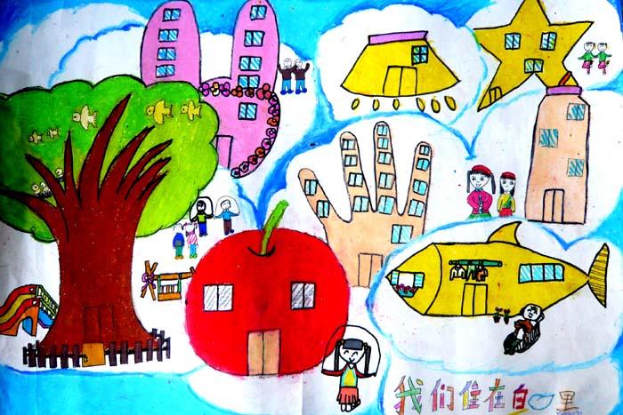 儿童科《我们住在云里》 江阴市英桥国际学校  赵文华女11岁  王萍老师辅导