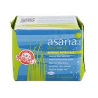 加拿大原装进口asana阿莎娜 纯棉生物芯瞬吸超薄日用卫生巾10片3包邮