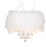 漫都羽毛水晶吊灯 餐厅灯客厅吊灯 家装主材 卧室灯具灯饰美女灯