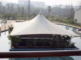 公园休息亭膜结构景观