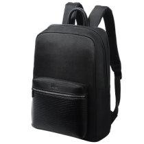 博牌BOPAI欧美男士双肩包 韩版大容量背包 商务旅行包包黑色11-01781