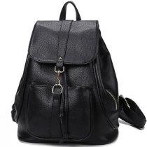 香炫儿XIASUAR新款勾扣背包女士旅行包双肩包黑色