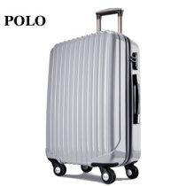 POLO拉杆箱万向轮行李箱 PC材质旅行箱 太空银 20寸