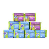 加拿大原装进口asana阿莎娜卫生巾组合日用6包+夜用3包 包邮
