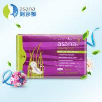 阿莎娜卫生巾 加拿大原装进口卫生巾 超薄加长420毫米夜用卫生巾
