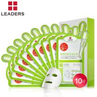 LEADERS丽得姿茶树控油针剂面膜贴10片 韩国原料清洁保湿收缩毛孔