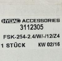 3112305 FSK-254-2.4/W/-/12/Z4 Hydac 原�b正品