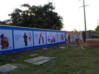 海南省菜篮子基地墙体广告粘贴安装