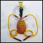 双管菠萝树脂水烟壶