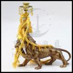 狮子树脂水烟壶