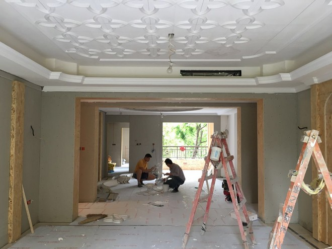 業之峰在建工地_中海九號公館大戶型施工圖