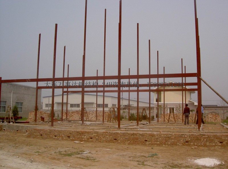 钢结构别墅施工
