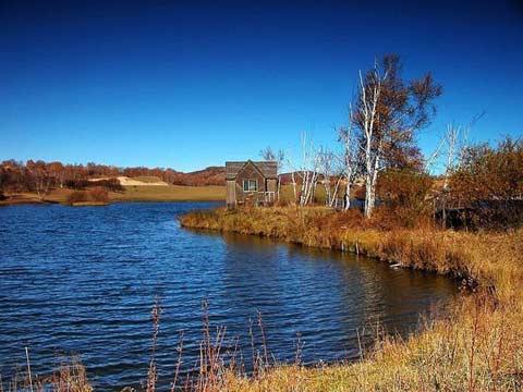 河北坝上草原--秋色美不胜收