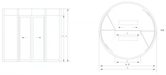門廳頂部分析圖