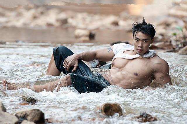 柬埔寨野狼般霸气矫健身材-男模海滩秀肌肉