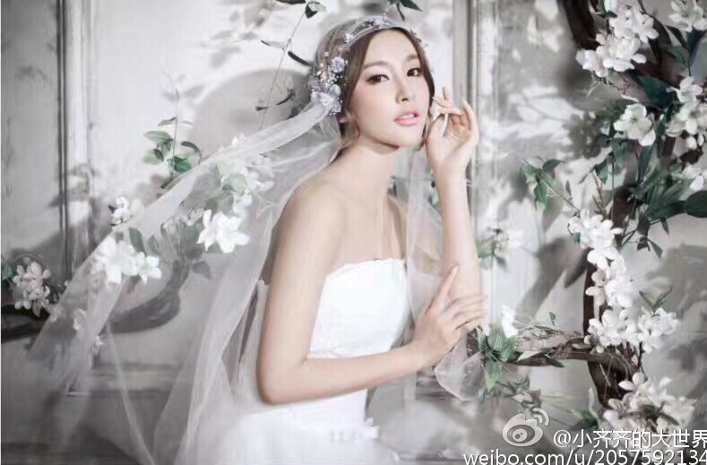 齐琦婚纱写真美图
