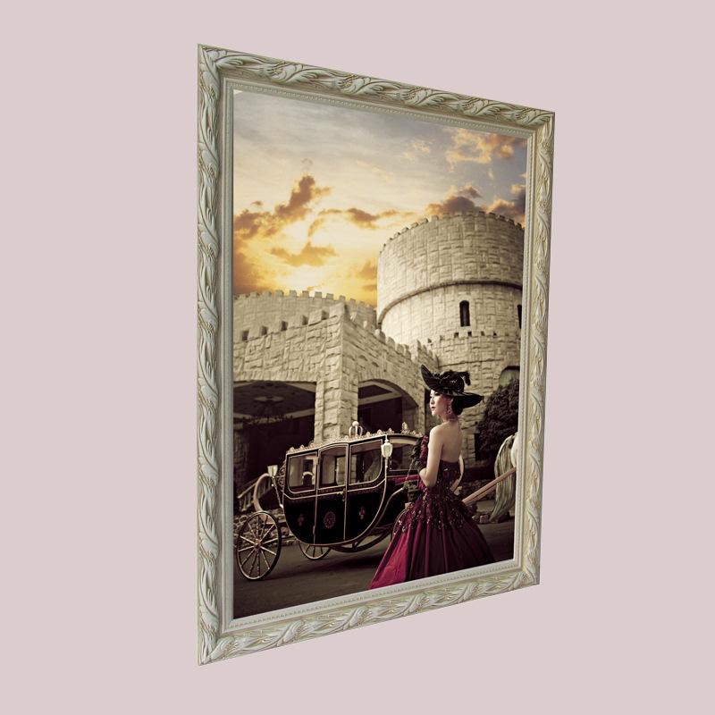深圳相框高档婚纱照油画框全家福30寸36寸40寸50寸60寸放大相框批发零售