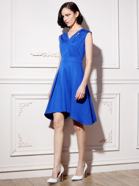 ECA女装夏季无袖连衣裙