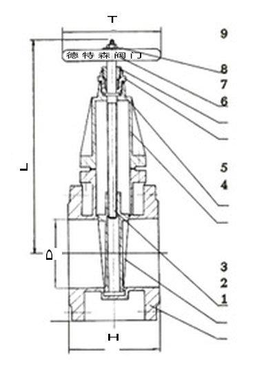 157青铜法兰闸阀结构图.jpg
