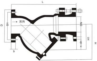 YSTF-10(16)型拉杆伸缩过滤器结构图.png