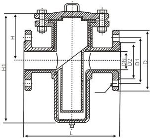 衬四氟篮式过滤器结构图.png