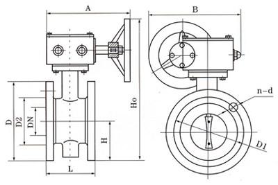 D341涡轮法兰式软密封蝶阀结构图.png