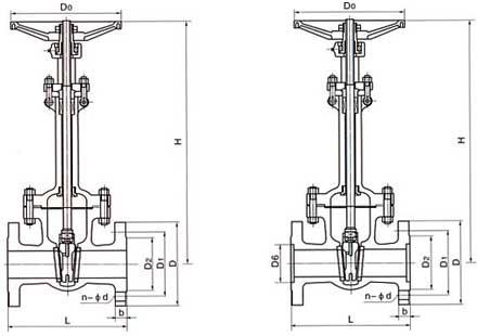 DZ41国标低温法兰闸阀结构图.png