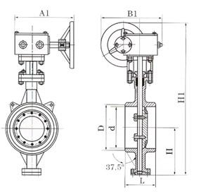 D363H W對焊式金屬硬密封蝶閥結構圖.png