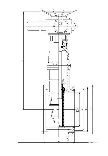 Z945X電動彈性座封閘閥結構圖.png