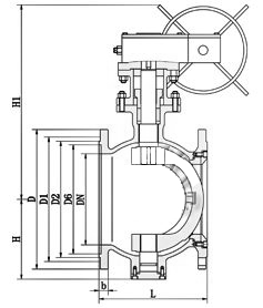 PQ40F-H手动偏心半球阀结构图.png