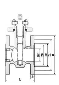PQ40F-H手动偏心半球阀结构图手动.png